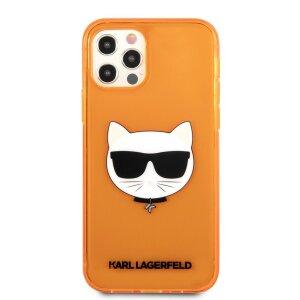 Husa Karl Lagerfeld Choupette Head pentru iPhone 12/iPhone 12 Pro Portocaliu