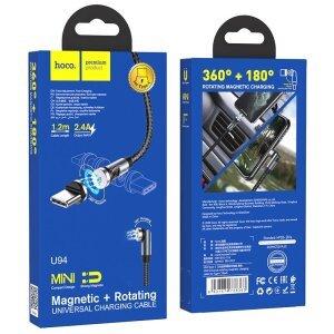 Cablu Date Hoco U94 USB to Type-C Magnetic 1.2m Negru