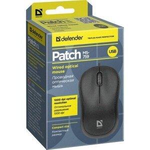 Mouse Optic Defender Match MS-759 cu Fir Negru
