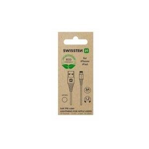 Cablu Date Swissten Arcade USB to Lightning 1.2 Alb (Ambalaj Eco)