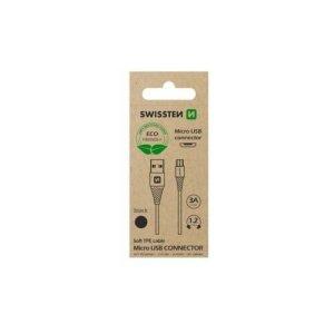 Cablu Date Swissten Arcade USB to Micro USB 1.2m Negru(Ambalaj Eco)