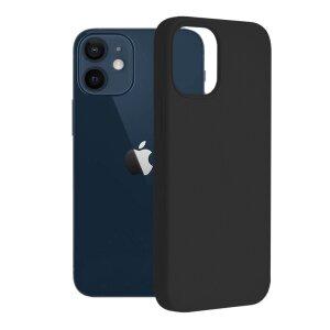 Husa Cover Silicon Slim Mat pentru iPhone 13 Bulk Negru