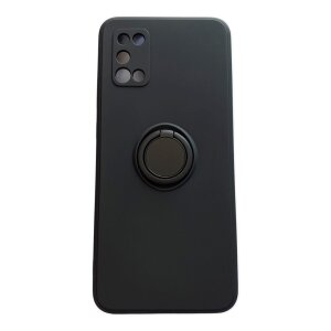 Husa Cover Silicon Finger Grip pentru Samsung A02s Negru