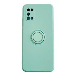 Husa Cover Silicon Finger Grip pentru Samsung A02s Verde