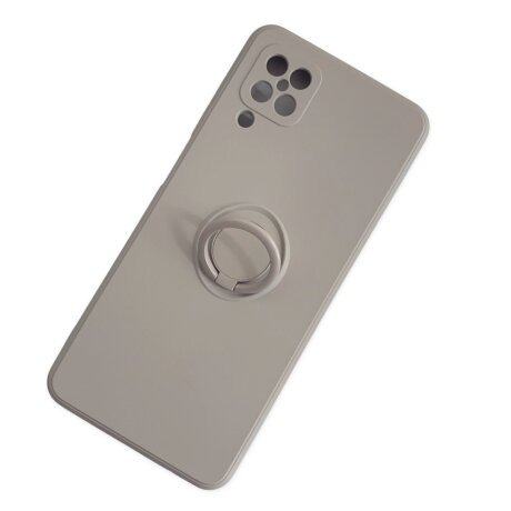 Husa Cover Silicon Finger Grip pentru Samsung A12/M12 Gri