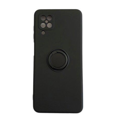 Husa Cover Silicon Finger Grip pentru Samsung A12/M12 Negru