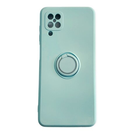 Husa Cover Silicon Finger Grip pentru Samsung A12/M12 Verde