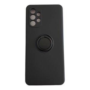 Husa Cover Silicon Finger Grip pentru Samsung A52/A52 5G Negru