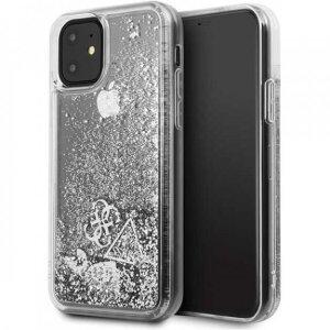 Husa Cover Guess Hearts pentru iPhone 11 GUHCN61GLHFLSI Silver