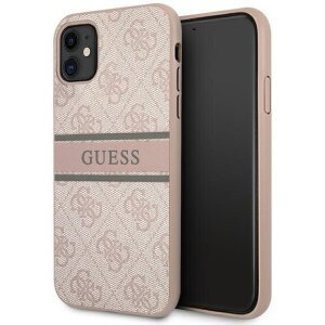 Husa Cover Guess Printed Stripe pentru iPhone 11 GUHCN614GDPI Pink