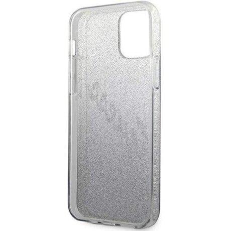 Husa Cover Guess Silicone pentru iPhone 12 Pro Max Vintage Glitter GUHCP12LPCUGLSBK Black