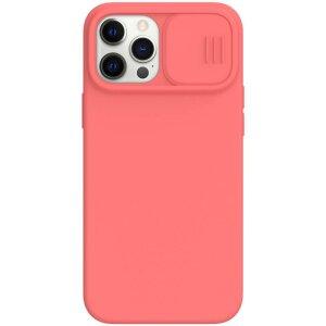 Nillkin CamShield Silky Magnetic Silikonovy Kryt pro iPhone 12/12 Pro 6.1 Orange Pink