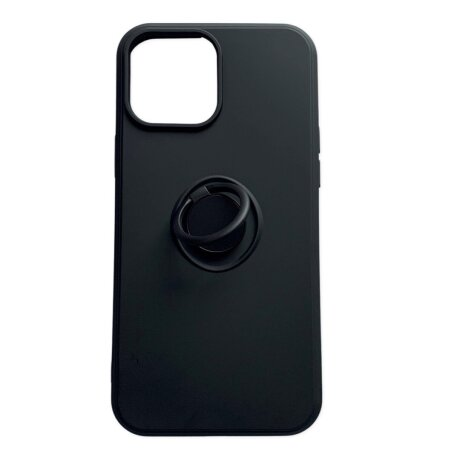 Husa Cover Silicon Finger Grip pentru Iphone 13 Mini Negru