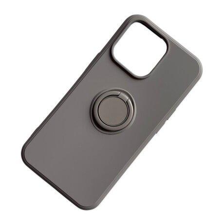Husa Cover Silicon Finger Grip pentru Iphone 13 Pro Gri