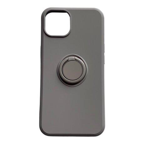 Husa Cover Silicon Finger Grip pentru Iphone 13 Pro Max  Gri