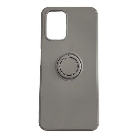 Husa Cover Silicon Finger Grip pentru Xiaomi Redmi Note 10/ 10s Gri