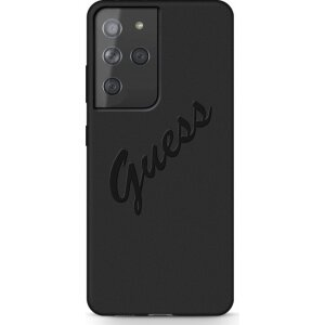Husa Cover Guess Silicone Vintage pentru Samsung Galaxy S21 Ultra GUHCS21LLSVSBK Black