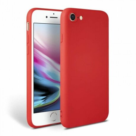 Husa Cover Silicon Slim Mat Pentru Iphone 7/8/Se 2 Rosu