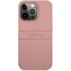 GUHCP13LPSASBPI Guess PU Leather Saffiano Zadni Kryt pro iPhone 13 Pro Pink