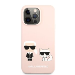 Husa Cover Silicone Case Karl Lagerfeld Liquid pentru iPhone 13 Pro Max KLHCP13XSSKCI Pink