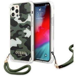 Husa Cover Guess Camo pentru iPhone 12/12 Pro GUFLBKSP12MIGLRG Khaki IPHONE