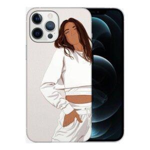 Husa Fashion Mobico pentru iPhone 13 Pro Girl White