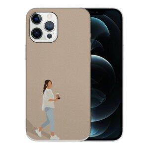 Husa Fashion Mobico pentru iPhone 13 Pro Girl with Coffe