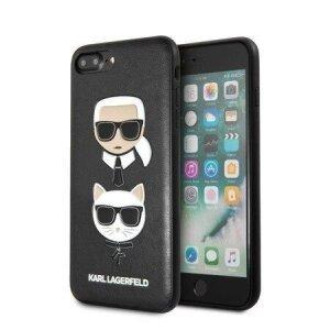 Husa spate iPhone 7/8 Plus Negru Karl&Chouppet