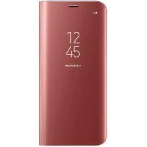 Husa Book Smart Clear View pentru Samsung Galaxy S20 FE/S20 FE 5G Roz