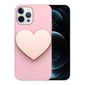 Husa Fashion Mobico pentru iPhone 13 Pro Max Pink Heart