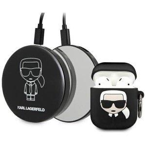 Husa Cover Karl Lagerfeld Bundle Iconic pentru Airpods 1/2+ Baterie Externa