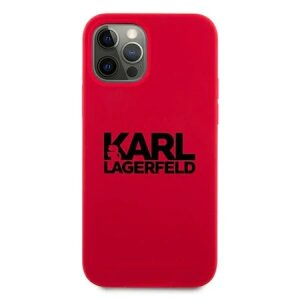Husa Cover Karl Lagerfeld Stack Logo Silicone pentru iPhone 11 Red
