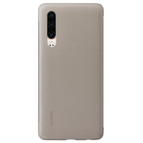 Husa Book Smart View Flip Cover pentru Huawei P30 Pro Brown
