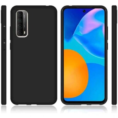 Husa Cover Silicon Slim Mat pentru Huawei P Smart 2021 Negru