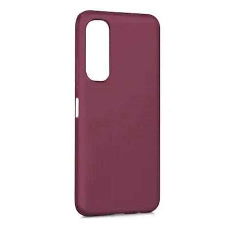 Husa Cover Silicon Slim Mat pentru Huawei P Smart 2021 Visiniu