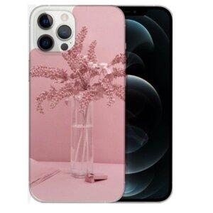 Husa Fashion Mobico pentru iPhone 13 Pro Max Pink Flowers