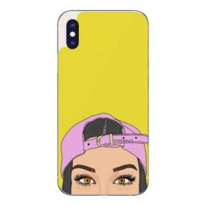 Husa Fashion Mobico pentru iPhone X/Xs Girl With A Cap