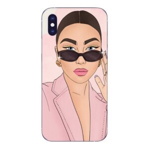 Husa Fashion Mobico pentru iPhone X/Xs The Pink Girl