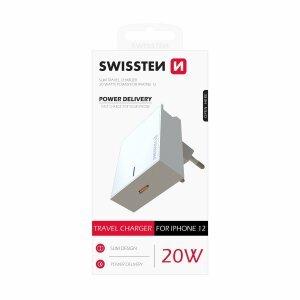 Incarcator Retea Swissten pentru iPhone QC 3.0 20W Alb