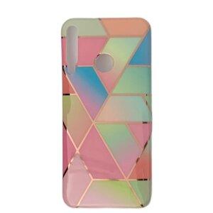 Husa Cover Silicon Geometric pentru Huawei P40 Lite E/Y7P Multicolor