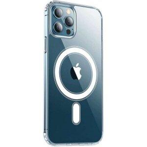 Husa Cover Silicon MagSafe pentru iPhone 12 Pro Max Transparent