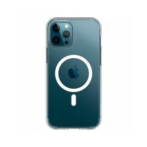 Husa Cover Silicon MagSafe  pentru iPhone 12/12 Pro Transparent