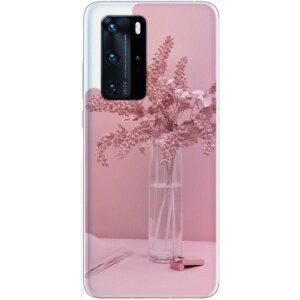 Husa Fashion Mobico pentru Huawei P40 Pro Pink Flower
