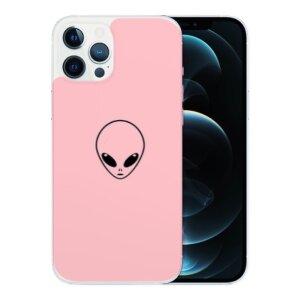 Husa Fashion Mobico pentru iPhone 13 Pro Max Pink Alien