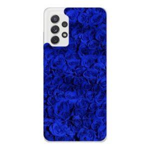Husa Fashion Mobico pentru Samsung Galaxy A52/A52 5G Blue Roses