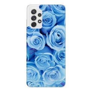 Husa Fashion Mobico pentru Samsung Galaxy A72/A72 5G  Blue Roses