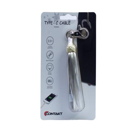 Accesoriu ciucure cu cablu Type Argintiu