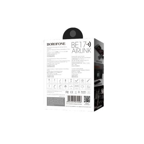 Adaptor audio cu bluetooth, Borofone BE17 Gri