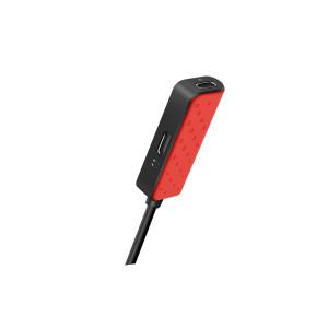 Adaptor audio dual lightning, Hoco LS12 Rosu
