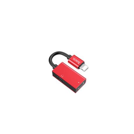 Adaptor audio dual lightning, Hoco Ls15 Rosu
